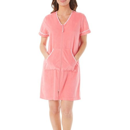 Coral Bay Short Sleeve Zip Up Robe