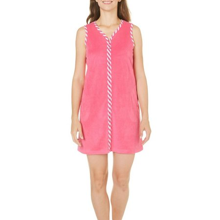 Coral Bay Womens Sleeveless Zippered Leisure Dress