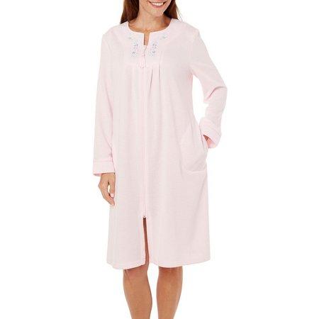 Jasmine Rose Womens Front Zip Robe
