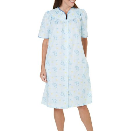 Jasmine Rose Womens Plaid Nightgown