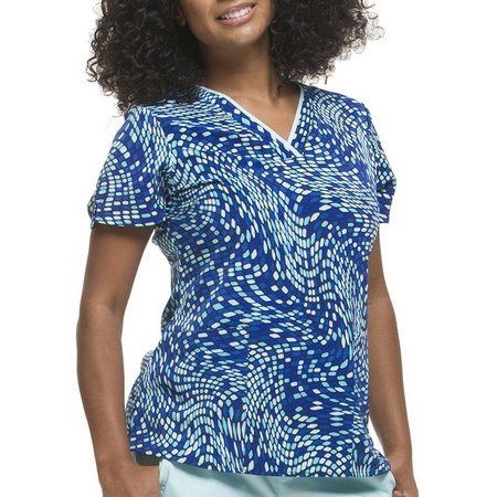 Healing Hands Womens Amanda Pixelate Scrub Top