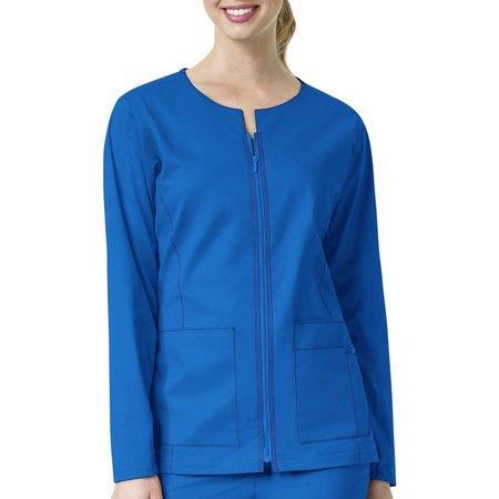 WonderWink Womens 7 Flex Zip-Front Scrub Jacket