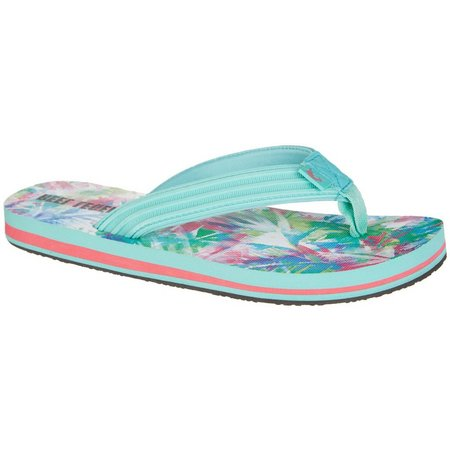 Reel Legends Womens Bali Bayou Palm Flip Flops