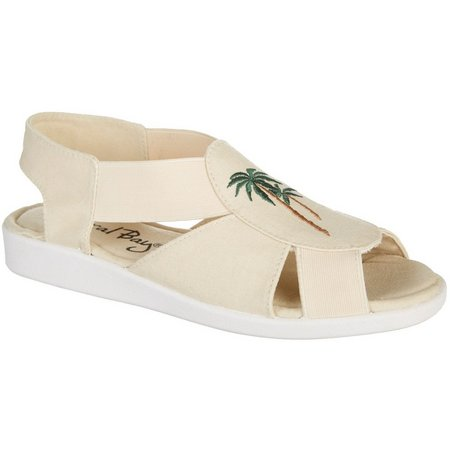 Coral Bay Womens Maggie Palm Tree Sandals