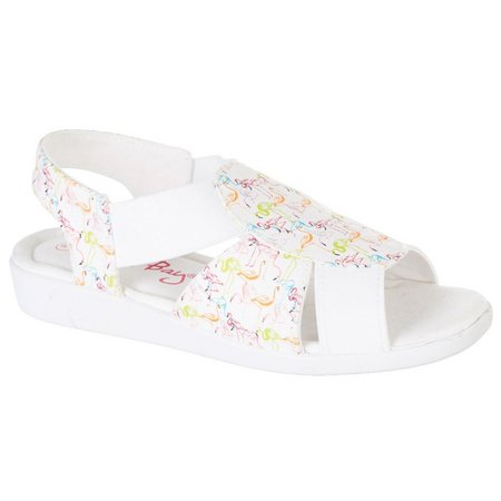 Coral Bay Womens Maggie Flamingo Sandals