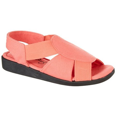 Coral Bay Womens Maggie Memory Foam Sandals