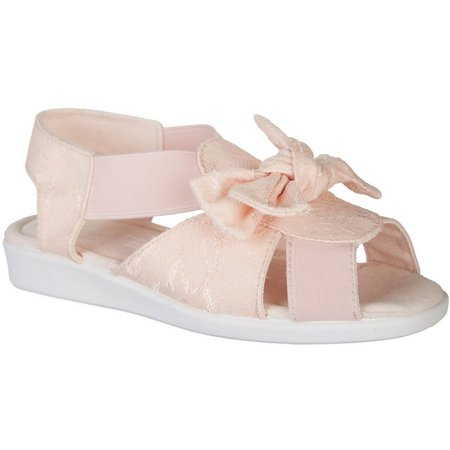 Coral Bay Womens Maggie Lace Bow Sandals