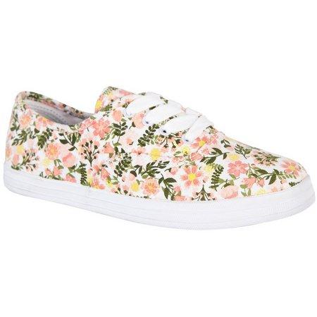 Coral Bay Womens Ashton Garden Floral Canvas Shoes