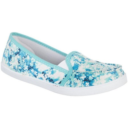 Coral Bay Womens Ava Floral Canvas Shoes