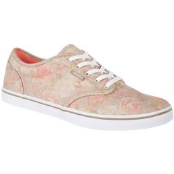Vans Womens Atwood Low Felt Flowers Skate Shoes