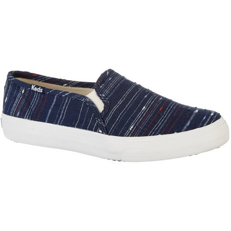 Keds Womens Double Decker Slub Stripe Loafers