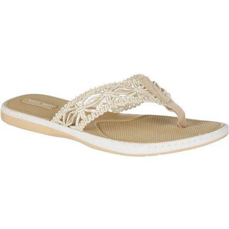 Paradise Shores Womens Corie Flip Flops