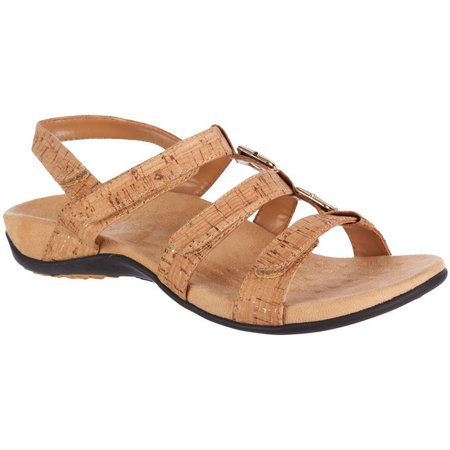 Vionic Womens Amber Brown Sandals