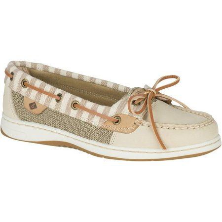 Sperry Womens Angelfish Stripes Boat Shoes