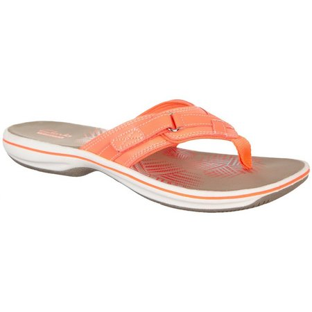 Clarks Womens Breeze Sea Flip Flop Sandals