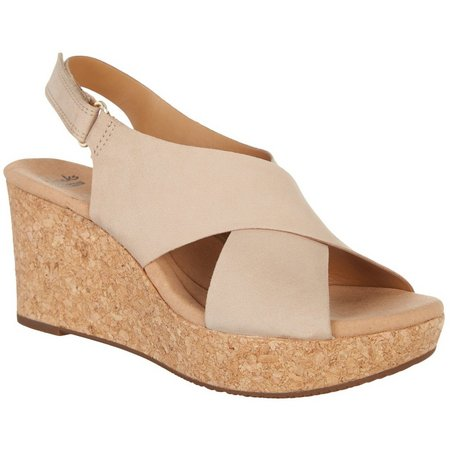 Clarks Womens Annadel Eirwyn Wedge Sandals