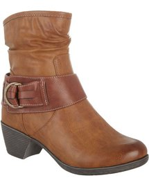 Bay Studio Ramona Womens Ankle Boots (Black / Brown)