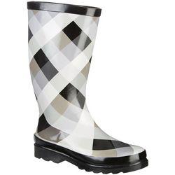 Sugar Womens Raffle Rain Boots