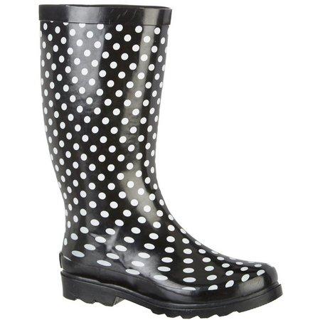 Sugar Womens Raffle Dots Rain Boots
