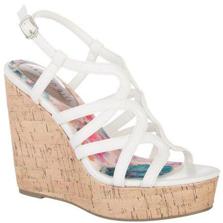 Madden Girl Womens Elma Wedge Sandals