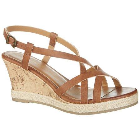 Dept 222 Womens Sofie Wedge Sandals