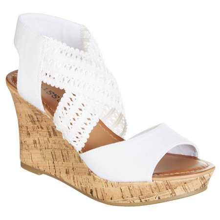 Dept 222 Womens Sabrina Wedge Sandals