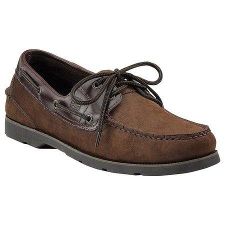 Sperry Mens Leeward 2-Eyelet Brown Boat Shoes