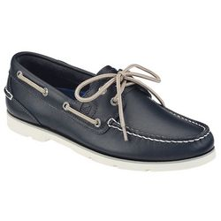 Sperry Mens Leeward 2-Eyelet Navy Boat Shoes