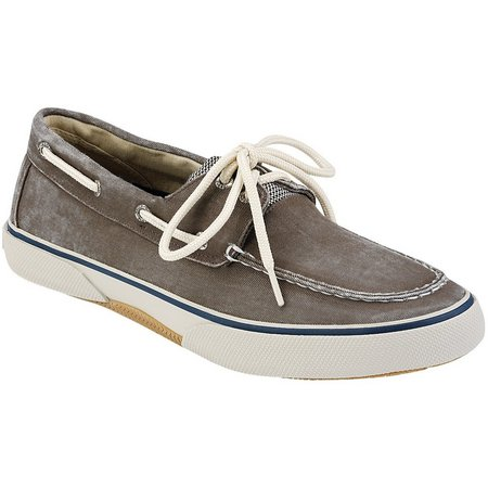 Sperry Mens Halyard Brown 2-Eyelet Boat Shoes