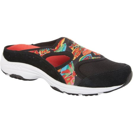 Easy Spirit Womens Instep Fish Athletic Mules