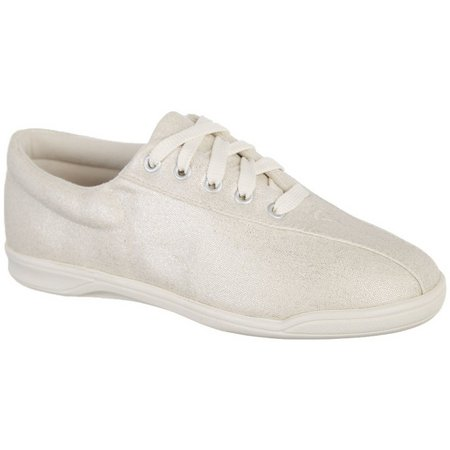 Easy Spirit Womens AP1 White Canvas Shoes