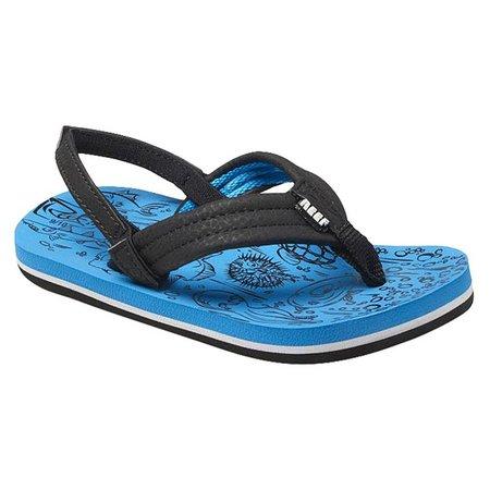 REEF Boys Grom Reef Footprints Sandals