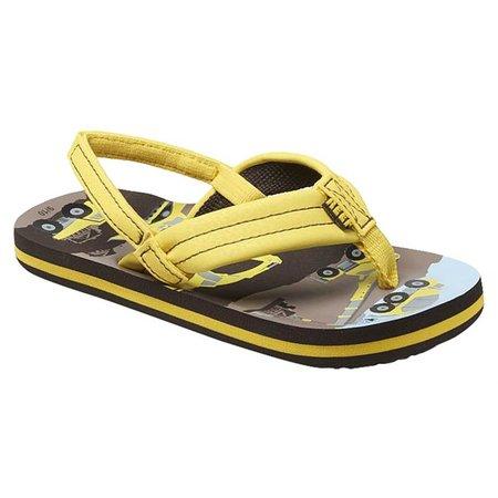 REEF Boys Ahi Yellow Trucks Sandals