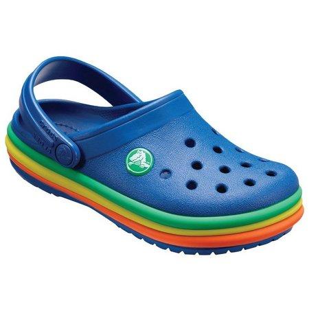 Crocs Toddler Boys Rainbow Band Boys Clogs