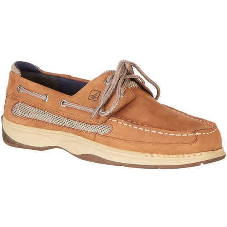 Sperry Boys Lanyard Tan Boat Shoes
