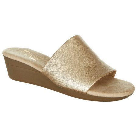 A2 by Aerosoles Womens Florida Gold Wedge Sandals