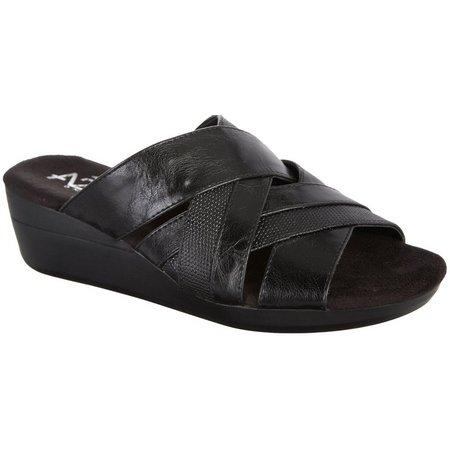 A2 by Aerosoles Womens Flower Power Black Sandals
