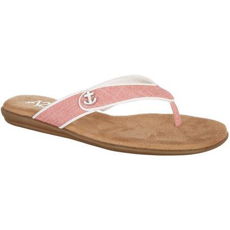 A2 by Aerosoles Womens Chlear Saling Flip Flops