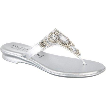 Italian Shoemakers Womens Mystify Jeweled Sandals
