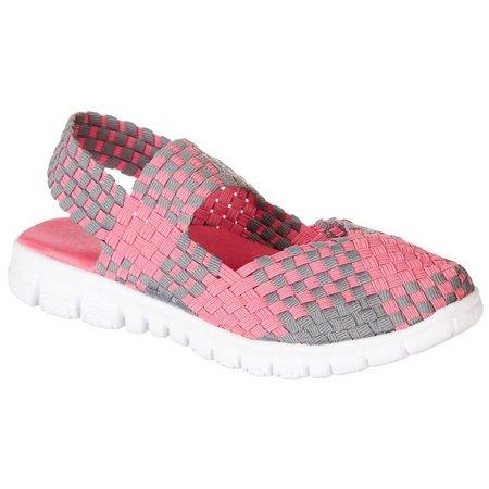 Coral Bay Womens Cali Slingback Woven Shoes