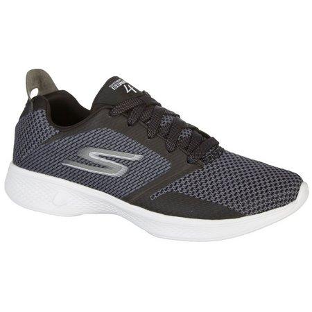 Skechers Womens GOwalk 4 Fascinate Athletic Shoes