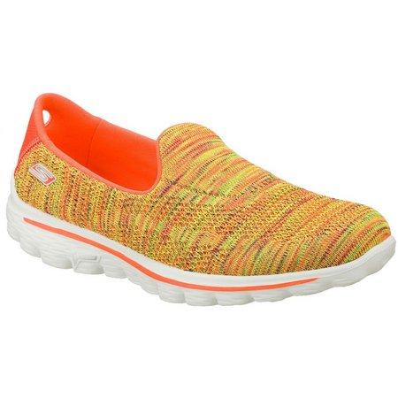 Skechers Womens GOwalk 2 Slide Athletic Shoes