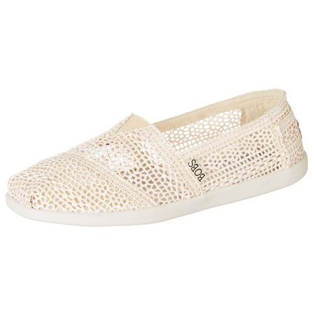 Skechers Womens Bobs Daisy Dot Loafers
