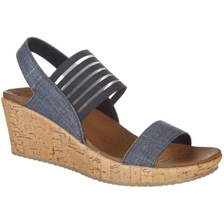 Skechers Womens Smitten Kitten Wedge Sandals