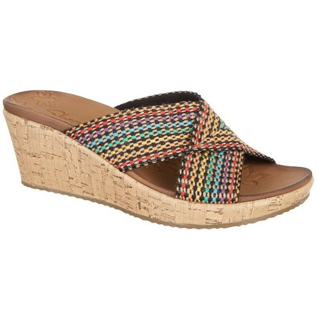 Skechers Womens Delighted Wedge Sandals