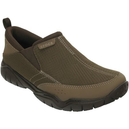 Crocs Mens Swiftwater Mesh Slip On Shoes