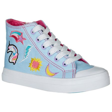 Legendary Laces Girls Chelsea High Top Shoes