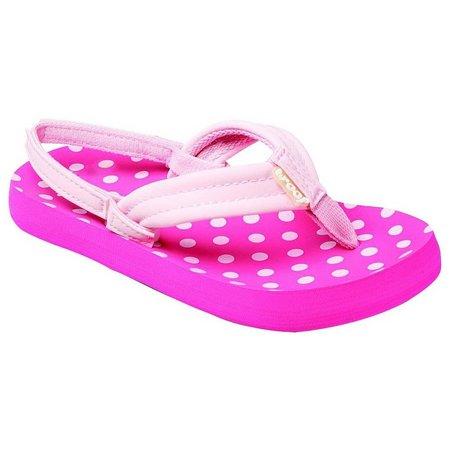 REEF Girls Little Ahi Polka Dot Sandals