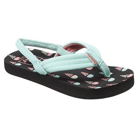 REEF Girls Little Ahi Ice Crem Sandals