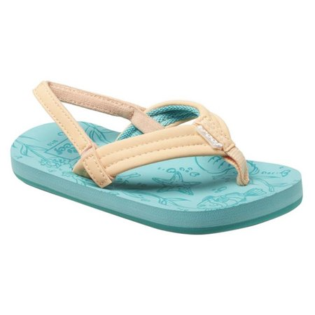 REEF Girls Little Reef Footprints Sandals